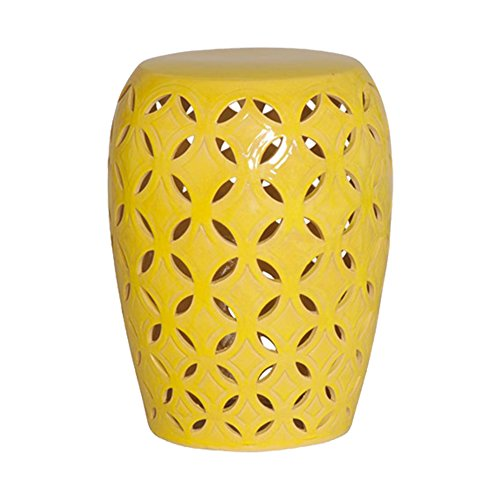 Emissary Home & Garden Lattice Stool/TBL Yellow from Emissary Home & Garden