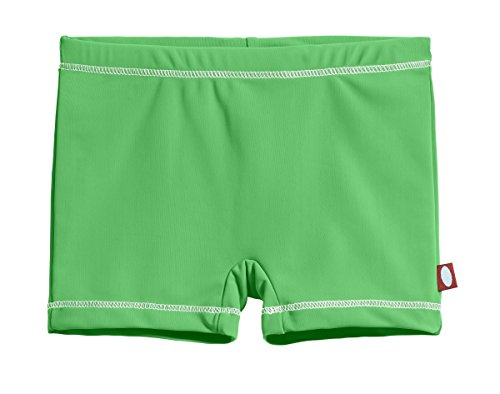 City Threads Little Girls' Swimming Suit Bottom Boy Short, Elf/White, 2T