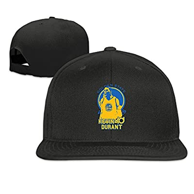 LINNA Custom Unisex-Adult Golden State #35 KD Logo Basketball Snapback Baseball Caps Black