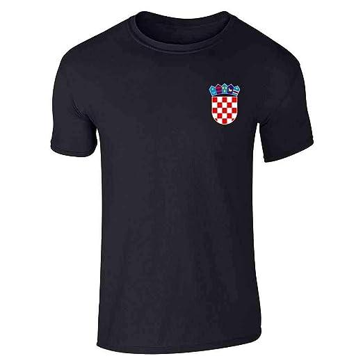 3ba510edf Croatia Soccer Retro National Team Sport Football Black S Short Sleeve T- Shirt