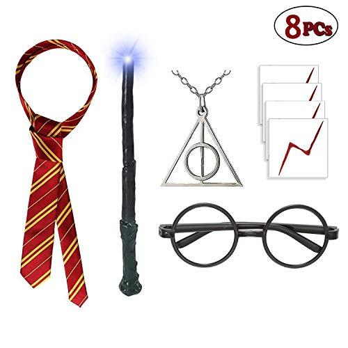Varita de luz con gafas novedosas, collar de rayas de las ...