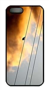 Unique iPhone 5 5S Case - Hard PC Black Edge Protective Cover Spectator Personalized iPhone 5S Case