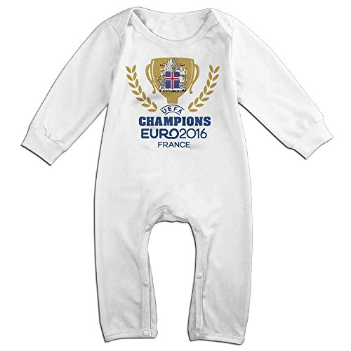 [HOHOE NewBorn Boy's & Girl's Euro Iceland Champs Long Sleeve Jumpsuit Outfits White 18 Months] (Dwayne Johnson Baby Costume)