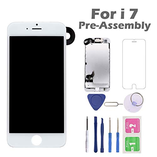 - for iPhone 7 Screen Replacement, Arotech Pre-Assembled 4.7 Inch LCD 3D Touch Display Digitizer Assembly Kit with Repair Tool, Compatible with A1660, A1778, A1779 All Version (White)