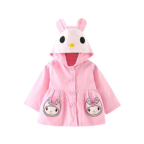 Fullfun Toddler Baby Cartoon Ear Doll Pocket Hooded Jacket for 1-3 Years Old Boys and Girls (18M, (Baby Doll Jacket)