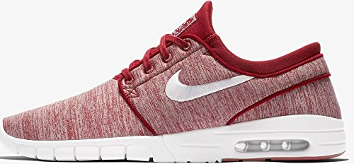 NIKE Men's Stefan Janoski Max Skate Shoe (9 D(M) US, Red Crush/White)