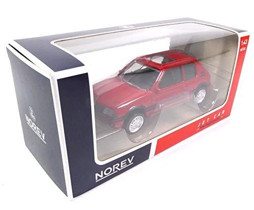 Jet Car Set of 6 Cars Peugeot 205 GTI Red Color 1//43 Norev