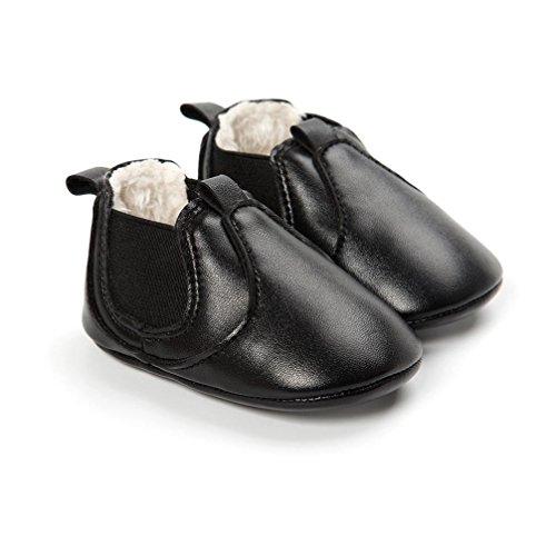 Soft Rutsch Anti Plüsch Stiefel Sole Mädchen Schwarz warme Clode® Kleinkind Jungen Baby n8pgqFX