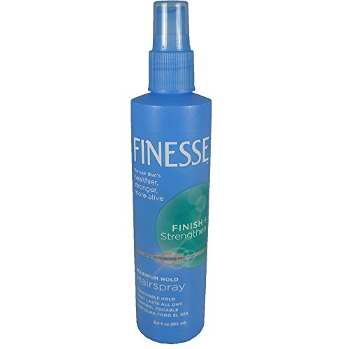 Finesse Finish + Strengthen, Maximum Hold Hairspray 8.50 oz (Pack of 2)