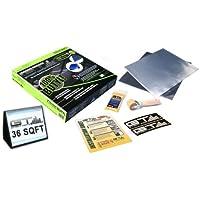 "GTMAT ONYX 36 sqft Automotive Sound Deadener Resonance Dampener Real True Butyl - Noise Deadener Installation Kit Includes: 36 x 1sqft Sheet (12"" x 12""), Degreaser, Application Roller, GT MAT Decals, Instruction Sheet"