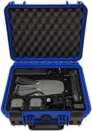 Profi Transportkoffer Travel Edition für DJI Mavic 2 Pro/Zoom Platz für bis zu 4 Akkus, Fly More Kit, auch Smart Controller und einzigartig viel Zubehör   Outdoor Case   IP67 wasserdicht (Blau)