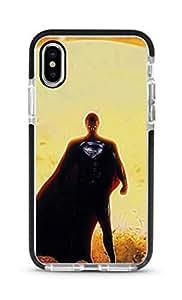 Stylizedd Apple iPhone XS Max Cover Impact Pro Black Military Grade Dual Layer Case - Superman Full