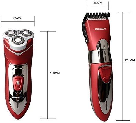 Pritech Duo - Afeitadora eléctrica (3 cabezales impermeables y ...