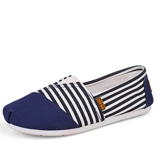 Chaussures Plates Confortables Pour Hommes Et Femmes, Toile Classique Décontractée Sur Les Flats Bleu Marine