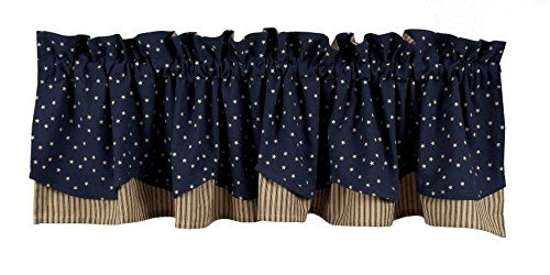 Home Collection by Raghu Salem Star Fairfield Valance, 72 by