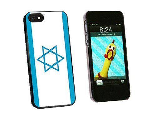 Graphics and More Israel Flag Snap-On Hard Protective Case for iPhone 5/5s - Non-Retail Packaging - Black