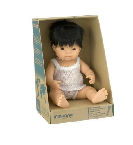 Miniland Baby Doll Asian Boy (38 Cm, 15