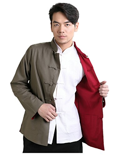 Cotton-flax Tang Suits Double-sided Wear Retro Jackets mens shirts Business Jackets by Double-sided Wear Tang Suit