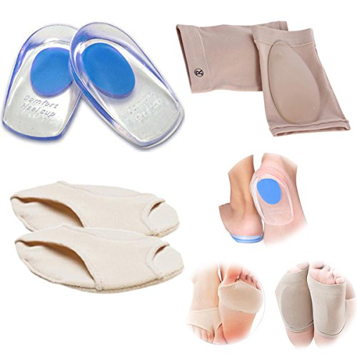 Insoles Pain Flat Sleeve Feet Anti Relief Paw Sole Pronation Socks Heel Nylon Bone Protector Inserts Support Correctors Gel Dance Pad Lycra Pain Orthotic Half Cushions Spur Pain Arch Massage qxBA06f
