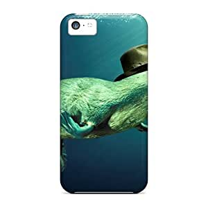 MMZ DIY PHONE CASEDefender Case With Nice Appearance (ocean Platypus Hat) For iphone 6 plus 5.5 inch