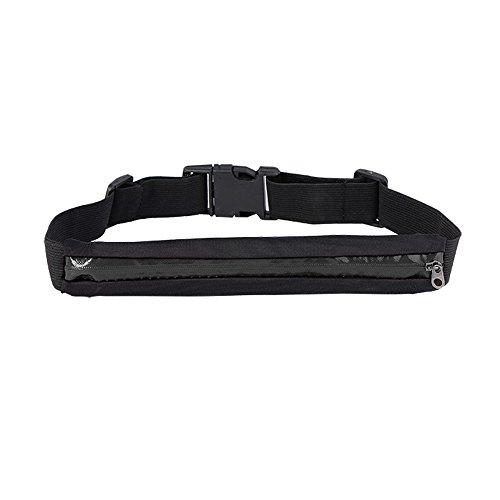 Boolavard ® TM Sport elastische Bauchtasche - Ideales Sport-Accessoire zum Verstauen solcher Gegenstände, wie Handy, Schlüssel, MP3 Player, Portemonnaie usw. Black