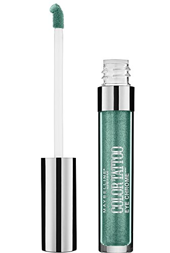 Maybelline New York Color Tattoo Eye Chrome Shadow, Electric Emerald, 1 Count