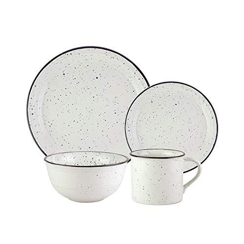 - American Atelier 7329-16-RB Speckled 16 Piece Round Dinnerware Set 10x10
