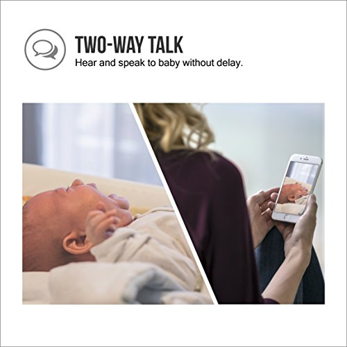 Samsung Wisenet SEW-3057WN BabyView Wi-Fi Remote Viewing  Baby Video Monitoring System Including BabyView Watch and Temperature, Humidity, Air Quality Sensor