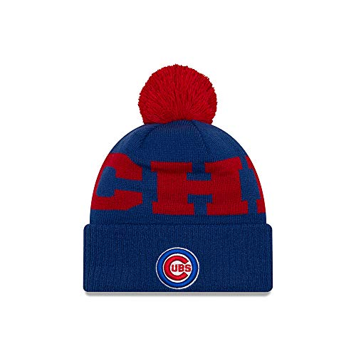 Chicago Cubs Pom Hat Cubs Hat With Pom Cubs Pom Beanie