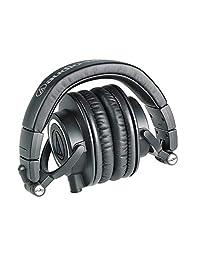 Audio Technica ATH M50x Auriculares monitores profesionales + Funda Slappa rígida de tamaño completo para auriculares profesional, SL HP 07