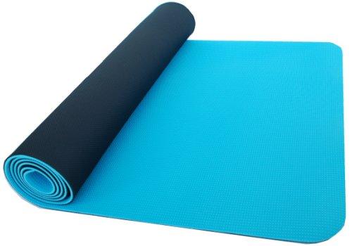 Thinksport Yoga Mat, Black/Blue