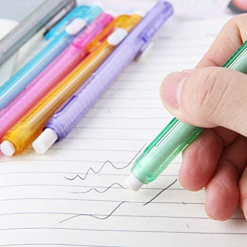 ATATMOUNT Creativo Stampa a Forma di Penna Gomma Scrittura Disegno Matita Cancella Studente Scuola Cancelleria per Ufficio Apprendimento Pittura Accessorio