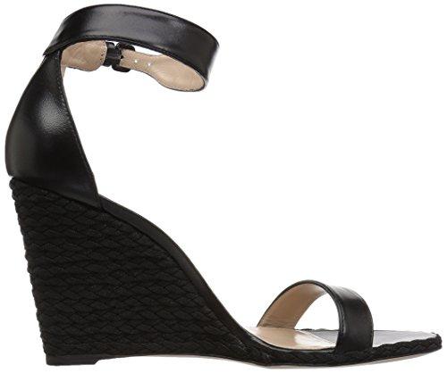 Stuart Weitzman Kvinders Backupwedge Kile Sandal Sort Nappa KN9VouCcQ
