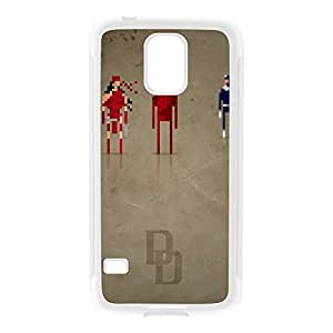 8Bit - Marvel Daredevil White Silicon Rubber Case for Galaxy S5 by DevilleArt + FREE Crystal Clear Screen Protector