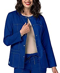 Adar Pop-stretch Junior Fit Taskwear Topper Jacket - 3208 - Royal Blue - S