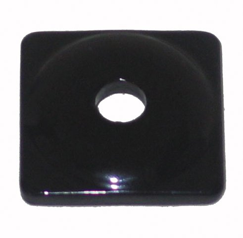 Support Square Aluminum Plates (Woodys Aluminum Square Support Plates - Black - 5/16in. Thread ASW2-3810-C)