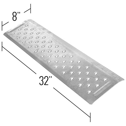 Silver Spring 1-1/4'' High Aluminum Threshold Ramp, Punch Plate Surface, 8'' L x 32'' W by Silver Spring (Image #1)