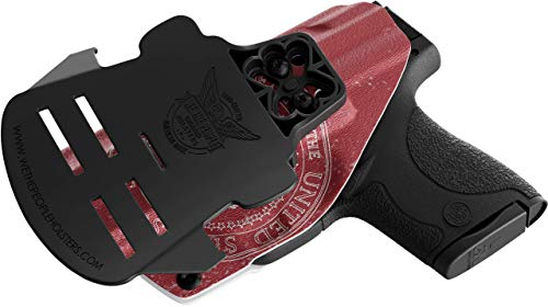 We The People - OWB Holster Compatible with Glock 20/21 Gun - Outside  Waistband Concealed Carry Kydex Holster (Right Hand, Trump)