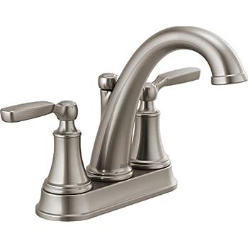 Delta Woodhurst 2 Handle Centerset Bathroom Faucet With