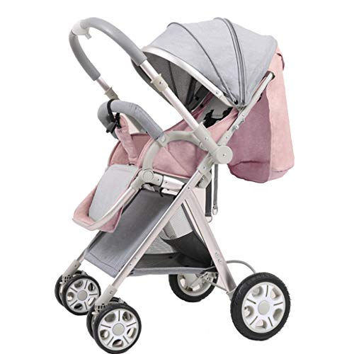 $263.93 Target Infant Car Seats Baby Stroller High Landscape Toddlers Prams Folding Two Way Newborn Pushchairs with Safe Five-Point Harness and Brake, Adjustable Backrest,Pink 2019