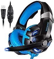 Headset Gamer Led Fone Onikuma Usb 7.1 Profissional Pc K2 Azul