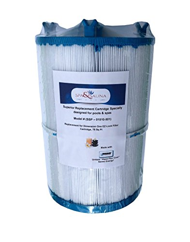 mension One EZ-Lock Replacement Filter Cartridge, 01510-501, 75 Sq Ft ()