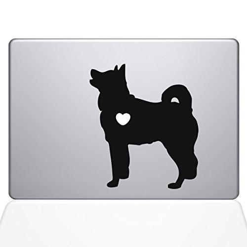 "Price comparison product image The Decal Guru I Love My Akita Decal Vinyl Sticker, 12"" MacBook, Black (1478-MAC-12M-BLA)"
