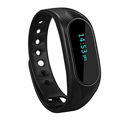 CUBOT Wireless Activity Wristband, Smart Fitness Tracker with a Pedometer, Step/Distance Counter, Sleep Monitor, Black