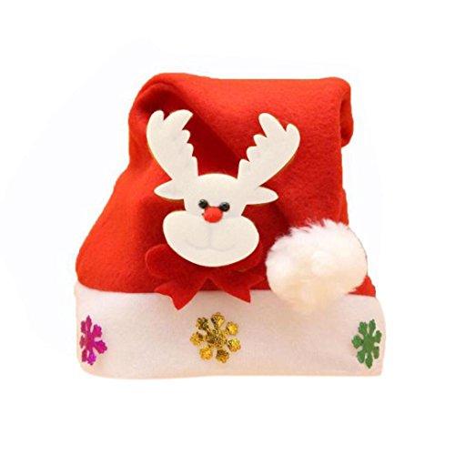 [Children Christmas Hats, Malltop Shinning Paillette Nonwoven Xmas Santa Claus Party Cap] (Joe Child Costumes Gloves)