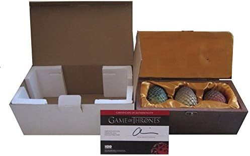 Game of Thrones Dragon Egg Prop Replica Set in Wooden Box Targaryen Edition* NEW