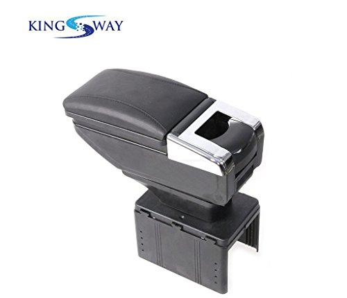 Kingsway kkmcarmtrybk00091 Car Armrest for Honda WR V  Black