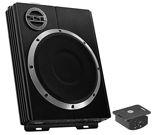 Sound Storm LOPRO10 Amplified Car Subwoofer - 1200 Watts Max Power, Low Profile, 10 Inch Subwoofer, Remote Subwoofer Control, Great For Vehicles That Need Bass But Have Limited ()