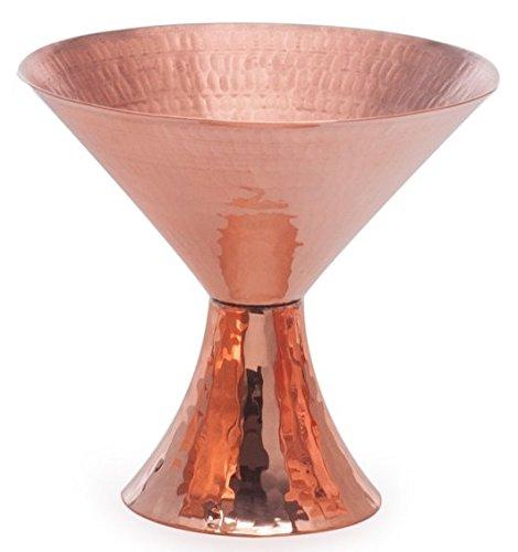 Sertodo Copper Satini Martini Cocktail Cup, 8 oz, Hammered Copper
