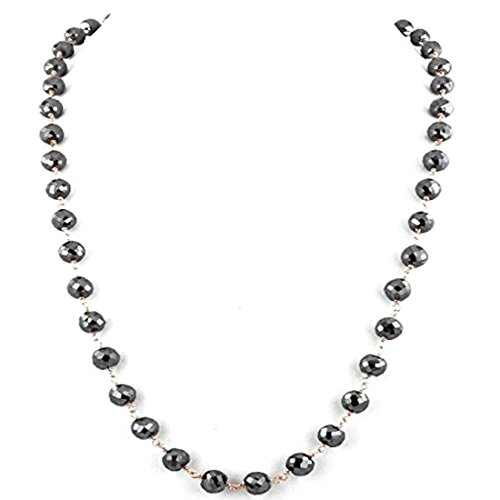 Barishh LONG - 36 inch.Black Diamond Necklace-5 mm-162 Carats.Certified.AAA Quality Excellent shine/Luster by Barishh